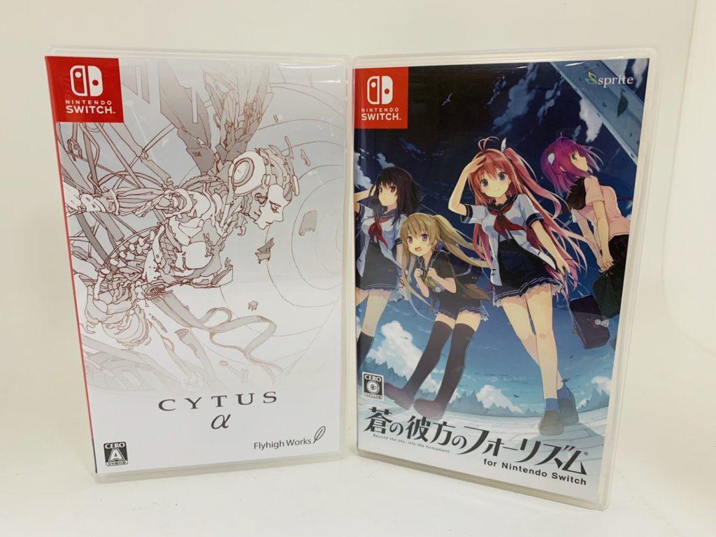 Switchソフトcytus Aと蒼の彼方のフォーリズムを合計6500円で買取しま